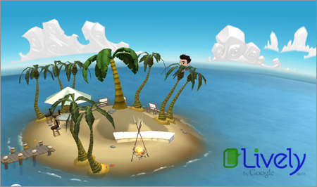 Fellowship Island on Googles Lively Virtual World