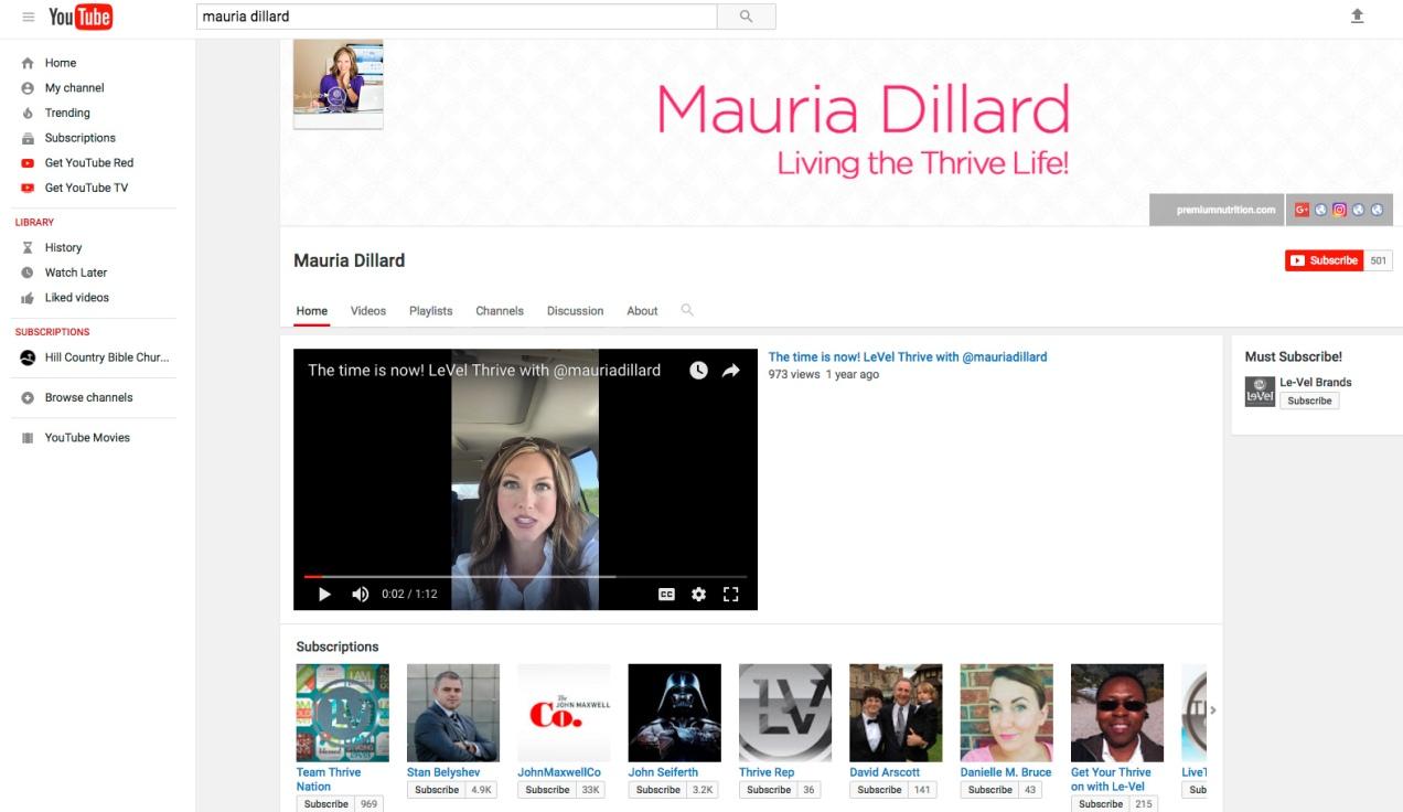 Mauria-YouTube